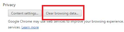 Очистка личных данных через раздел «Privacy»
