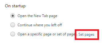 Гиперссылку «Set pages»