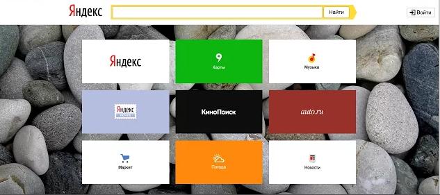 Панель визуальных закладок от Яндекс