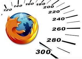 Логотип браузера Firefox и изображение шкалы спидометра