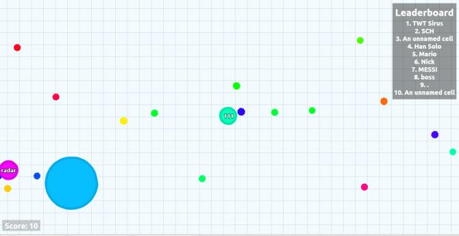 Браузерная игра Agar.io