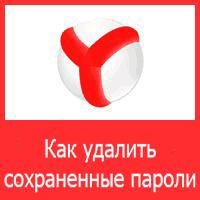 Как удалить пароли в Яндекс Браузере?